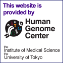 This website is provided by Human Genome Center, Institute of Medical Science,University of Tokyo